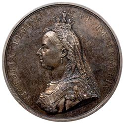 GREAT BRITAIN: Victoria, 1837-1901, AR medal, 1887. AU