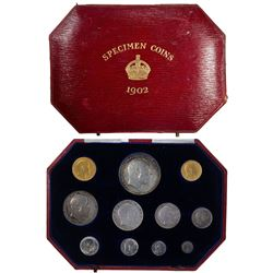 GREAT BRITAIN: Edward VII, 1901-1910, 11-coin set, 1902