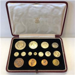 GREAT BRITAIN: George VI, 1936-1952, 15-coin proof set, 1937