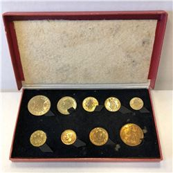 GREAT BRITAIN: George VI, 1936-1952, 9-coin proof set, 1950