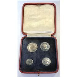 GREAT BRITAIN: George III, 1760-1820, 4-coin set, 1786