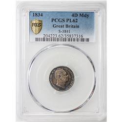GREAT BRITAIN: William IV, 1830-1837, 4-coin set, 1834