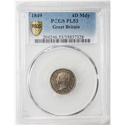 GREAT BRITAIN: Victoria, 1837-1901, 4-coin set, 1849