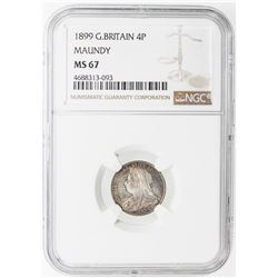 GREAT BRITAIN: Victoria, 1837-1901, 4-coin set, 1899