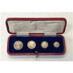 GREAT BRITAIN: George V, 1910-1936, 4-coin set, 1920