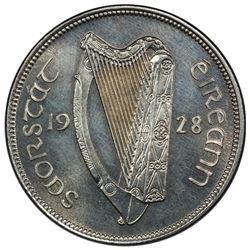 IRELAND: Free State, AR halfcrown, 1928. PCGS PF64