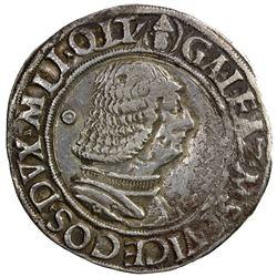 MILAN: Galeazzo Maria Sforza, 1466-1476, AR testone (9.49g). VF
