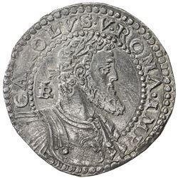 NAPLES: AR mezzo ducato (14.39g), Napoli, ND (1548-1554). EF