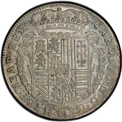 NAPLES: Carlo II of Spain, 1674-1700, AR tari, 1686. PCGS MS64