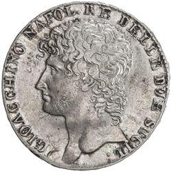 NAPLES: Gioacchino Murat, 1808-1815, AR 12 carlini, 1810. EF