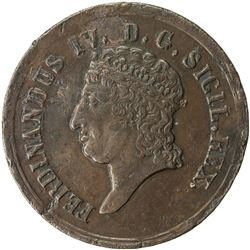 NAPLES & SICILY: Ferdinando IV, in the Two Sicilies, 1816-1825, AE 8 tornesi, 1816. EF