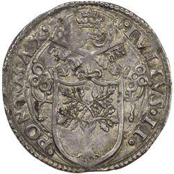 PAPAL STATES: Giulio II, 1503-1513, AR guilio (3.84g), Rome. EF-AU