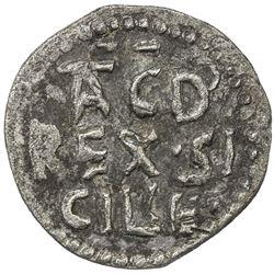 SICILY: Tancred, 1190-1194, BI quatro de tercenario (0.46g). VF