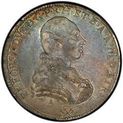 TUSCANY: Pietro Leopoldo, 1765-1790, AR francescone (10 paoli), 1787. PCGS EF45