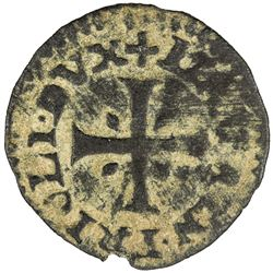 VENETIAN CYPRUS: Lorenzo Priuli, doge, 1556-1559, AE carzia (0.42g). VF