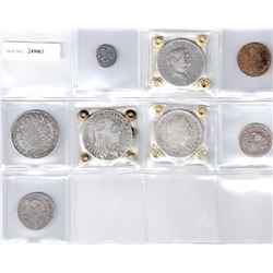 ITALIAN STATES: LOT of 7 silver and 1 copper coin