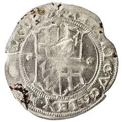 LIVONIAN ORDER: Heinrich von Galen, 1551-1557, AR 1/2 mark (5.15g), [15]56. EF-AU