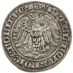 LUXEMBOURG: Wenzel II, 1383-1419, AR groschen (gans) (2.86g). EF