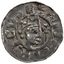FRIESLAND: Bruno III, 1038-1057, AR denar (0.81g), Dokkum. AU