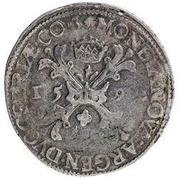 GELDERLAND: Dutch Republic, AR bourgondische rijksdaalder (28.55g), 1592. VF