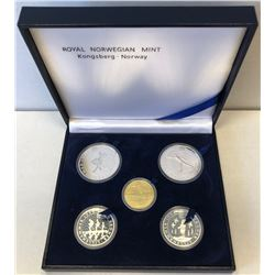 NORWAY: Harald V, 1991-, 5-coin set, 1991