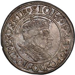 POLAND: Sigismund I, 1506-1548, Torun (Thorn), 1534. PCGS AU58