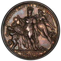 POLAND: John III Sobieski, AR medal, 1694. PCGS AU50