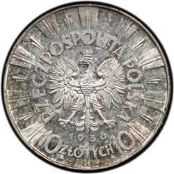 POLAND: Republic, AR 10 zlotych, 1936(w). PCGS MS62