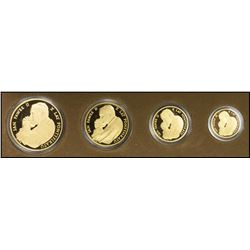POLAND: Republic, gold 4-coin proof set, 1988
