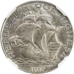 PORTUGAL: Republic, AR 2 1/2 escudos, 1937. NGC AU58