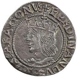 MAJORCA: Fernando V, 1452-1516, AR real (2.12g), ND. VF-EF