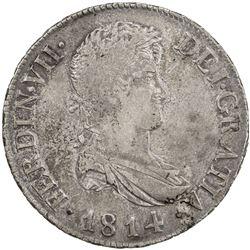 SPAIN: Fernando VII, 1808-1833, AR 8 reales, 1814-C. VF