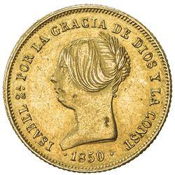 SPAIN: Isabel II, 1833-1868, AV 100 reales, Madrid, 1850-M