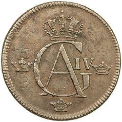 SWEDEN: Gustav IV Adolf, 1792-1809, AE skilling, 1803