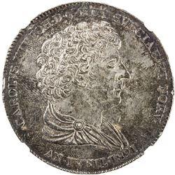 SWEDEN: Carl XIV Johan, 1818-1844, AR riksdaler, 1821 CB. NGC AU58