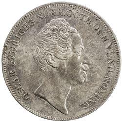 SWEDEN: Oscar I, 1844-1859, AR riksdaler, 1851. EF-AU