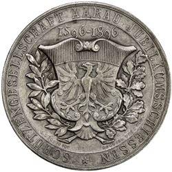 AARGAU: AR shooting medal, 1896. EF