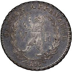 APPENZELL: AR 4 franken, 1816. PCGS AU58