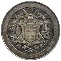 NEUCHATEL/NEUENBURG: AR shooting medal, 1892. EF-AU
