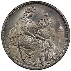SCHAFFHAUSEN: 5 francs, 1865. PCGS MS66