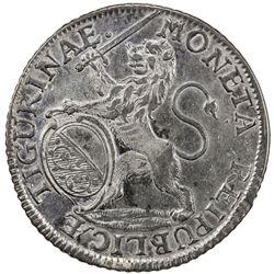 ZURICH: AR thaler, 1730. VF
