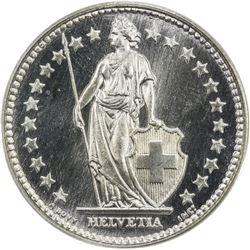 SWITZERLAND: AR 2 francs, 1940-B. PCGS SP