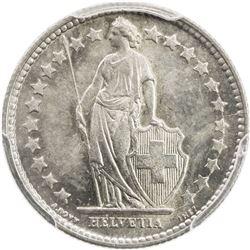 SWITZERLAND: AR 1/2 franc, 1898-B. PCGS MS64