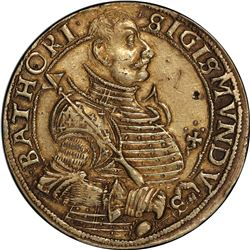 TRANSYLVANIA: Sigismund Bathory, 1581-1602, AR thaler, 1594. PCGS EF