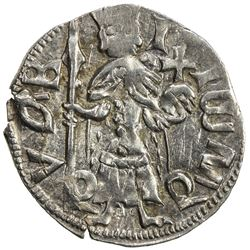 WALLACHIA: Mircea I cel Batran (the Elder), 1386-1394 and 1397-1418, AR dinar. EF