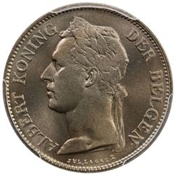 BELGIAN CONGO: Albert I, 1909-1934, 50 centimes, 1928. PCGS MS65