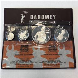 DAHOMEY: Republic, 4-coin proof set, 1971