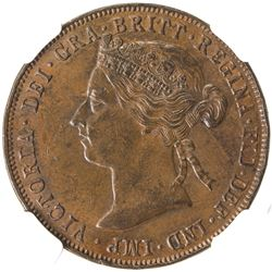 EAST AFRICA PROTECTORATE: Victoria, 1895-1901, AE pice, 1899. NGC MS62
