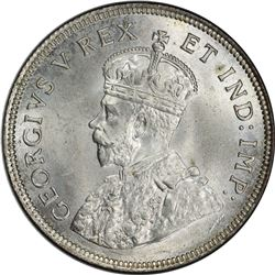 EAST AFRICA & UGANDA: George V, 1910-1936, AR shilling, 1924. PCGS MS65