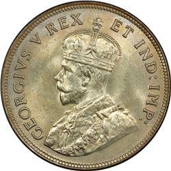 EAST AFRICA & UGANDA: George V, 1910-1936, AR shilling, 1925. PCGS MS63
